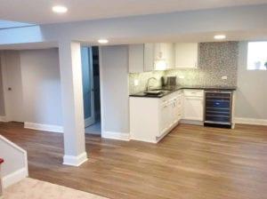 interior design basement remodel   chicago   McClure