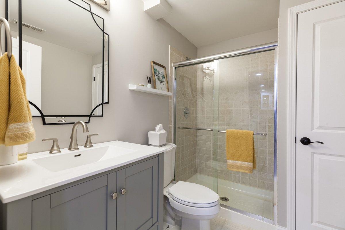 lower level bathroom remodel